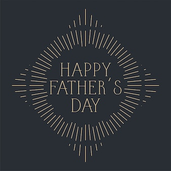 Happy fathers day celebration card design