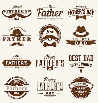 Happy fathers day design collection