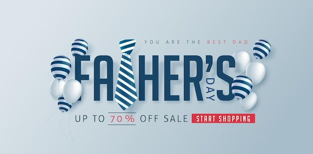 Happy fathers day discount banner template