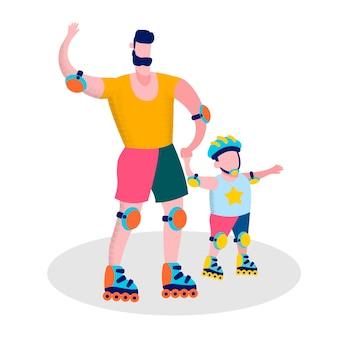 幸せな父の日家族スポーツレクリエーション