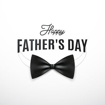 Happy fathers day greeting card with retro mustache and the text.