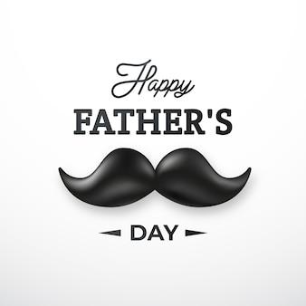 Счастливая поздравительная открытка дня отцов.