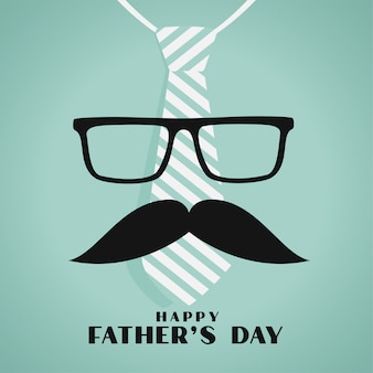 Happy fathers day greeting design in hipster style