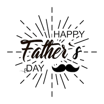 Happy fathers day lettering design