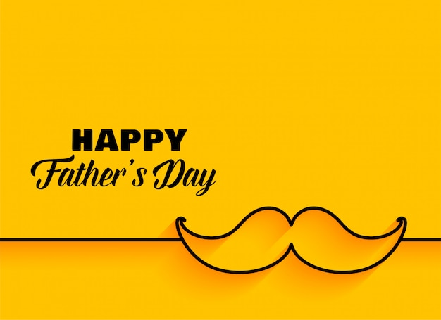 Happy fathers day minimal yellow background