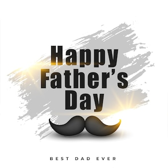 Happy fathers day nice abstract  greeting card design