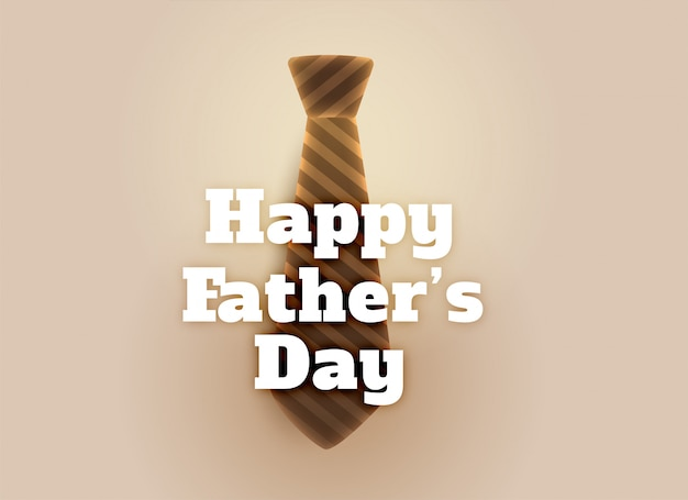 Happy fathers day tie greeting card