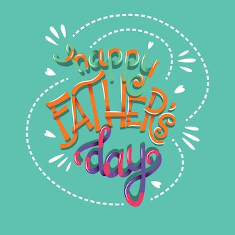 Happy fathers day typography poster