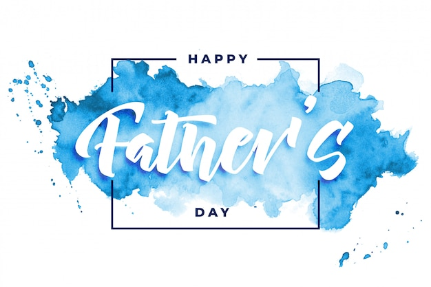 Happy fathers day watercolor card design