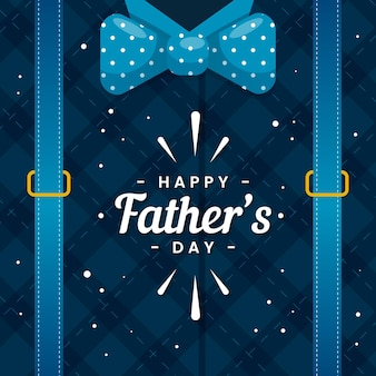 Happy fathers day with bow tie