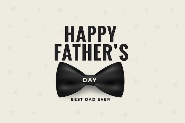Happy fathers day with realistic bow design