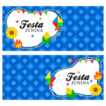 Happy festa junina banner template