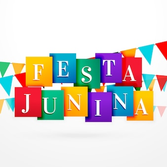 Happy festa junina design