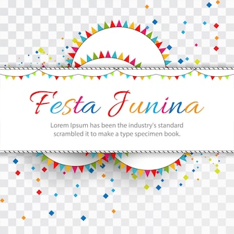 Happy festa junina design