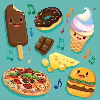 Happy foods поют вместе