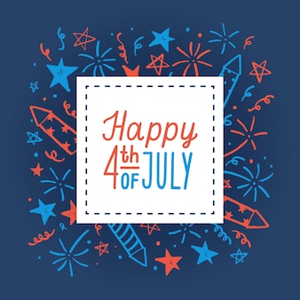Happy fourth of july. card template.