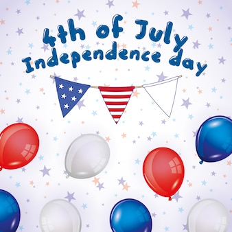 Happy fourth of july. independence day card