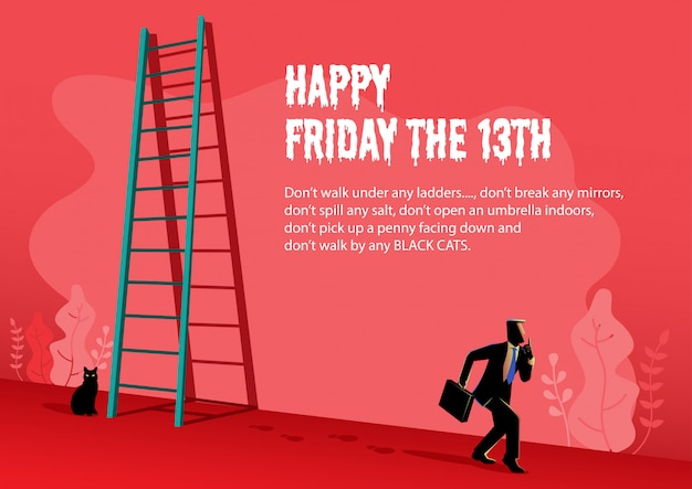 Happy friday the 13th illustration