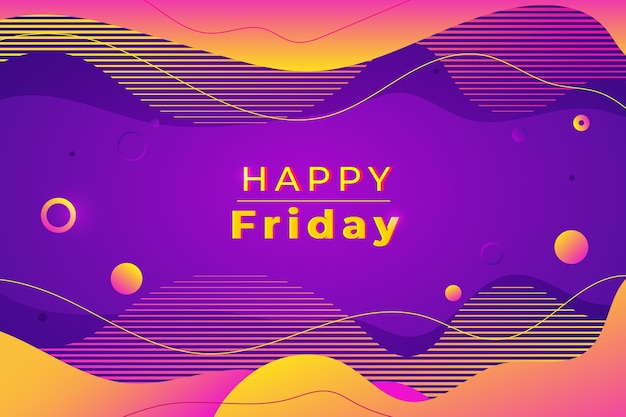 Happy friday purple background