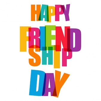 Happy friendship day colorful typogrpahy