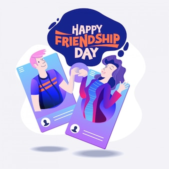 Happy friendship day, friends from social networks