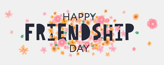 Happy friendship day greeting banner