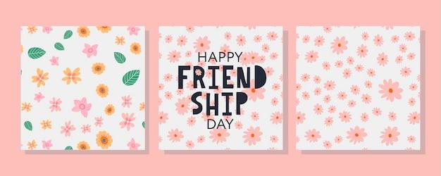 웹사이트 템플릿 카드 포스터 로고 v에 대 한 포스터 전단지 배너에 대 한 행복 한 우정의 날 인사말 카드 ...