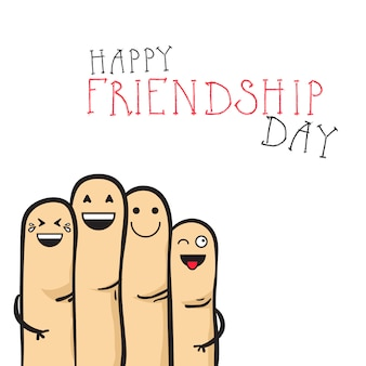 Happy friendship day greeting card friends holiday banner