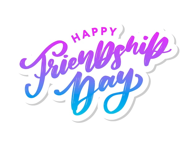 Happy friendship day greeting card. for poster, flyer, banner for website template, cards, posters, logo. vector illustration.