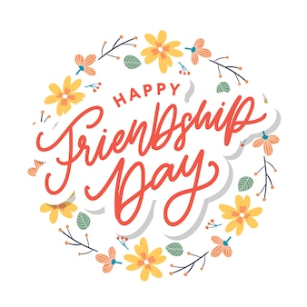 Happy friendship day greeting card.