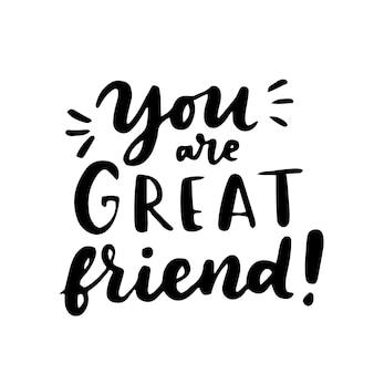 С днем дружбы рука надписи. лучшие друзья навсегда. шаблон оформления поздравительных открыток.