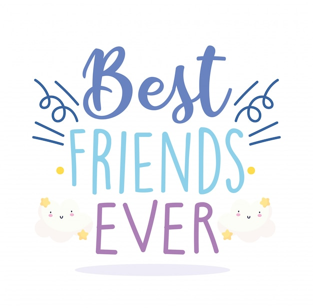 Happy friendship day, special event celebration lettering