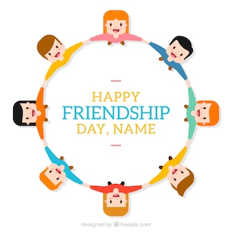Happy frienship day background template