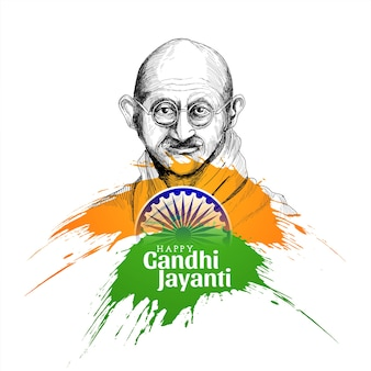Happy gandhi jayanti concept background