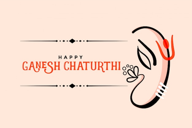 Happy ganesh chaturthi creative greeting card design
