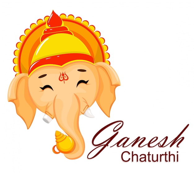 Happy ganesh chaturthi greeting card