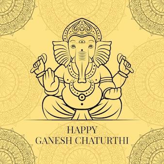 Happy ganesh chaturthi illustration