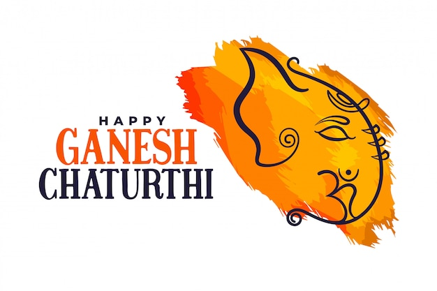 Happy ganesh chaturthi indian festival poster