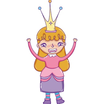 Happy girl queen with crown accessory