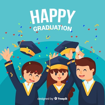 Happy graduation background