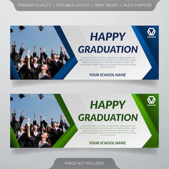 Happy graduation banner template