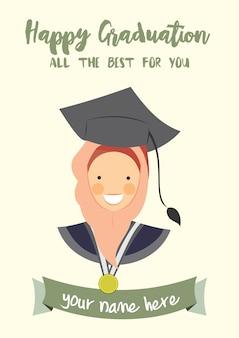Happy graduation congratulation template card