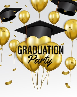 Happy graduation party celebration