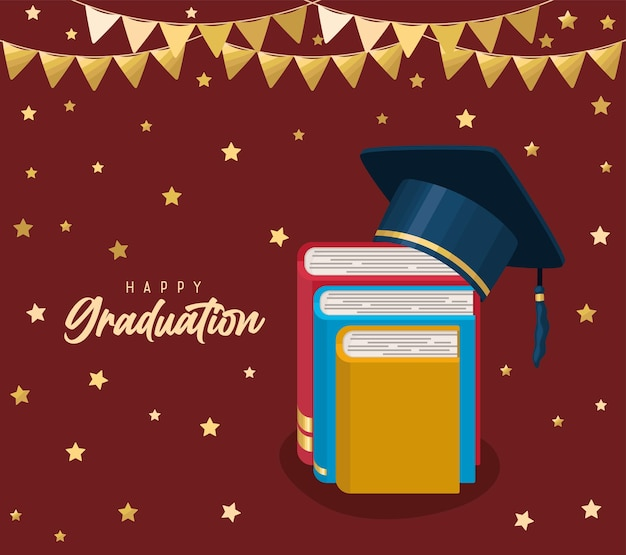 행복한 졸업 포스터