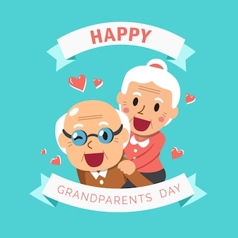 Happy grandpa and grandma grandparents day