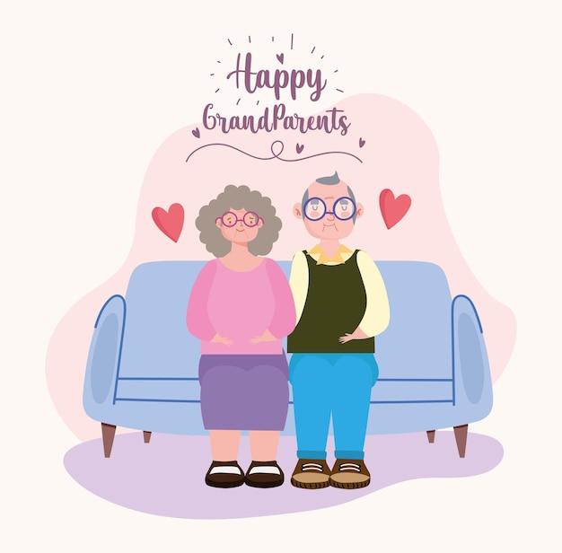 행복한 조부모 축하