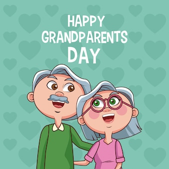 Happy grandparents day card