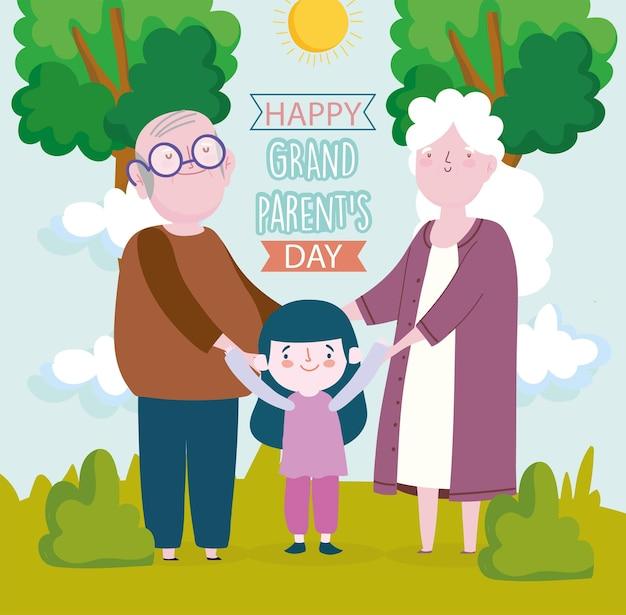 해피 조부모의 날 카드