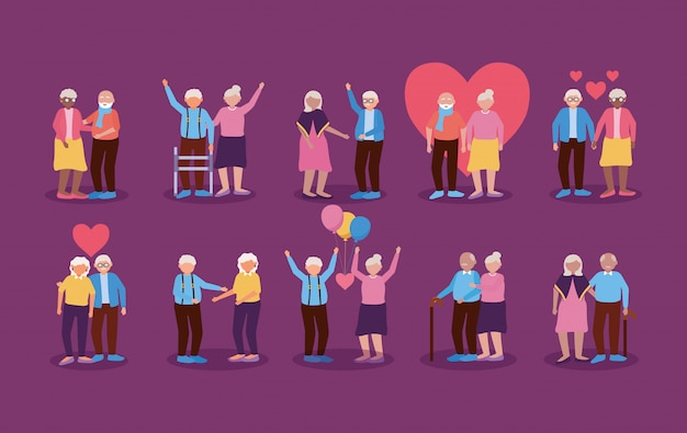 Happy grandparents day flat design