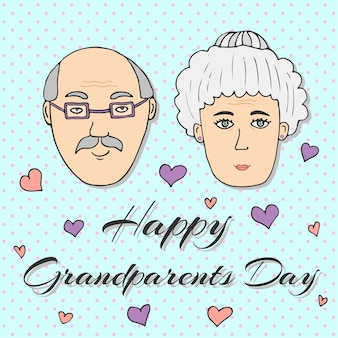 Happy grandparents day! greeting card